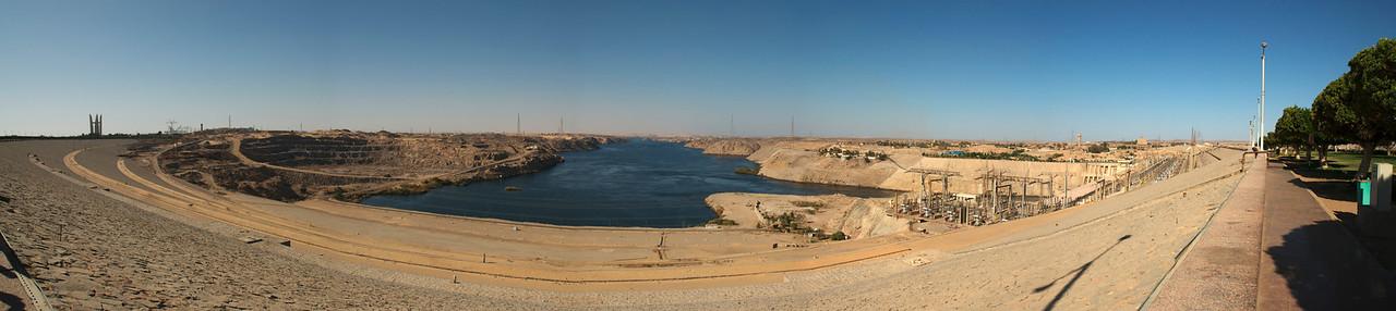 Panoramic shot of the Aswan Dam in Egypt
