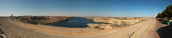 Panoramic shot of the Aswan Dam in Egypt