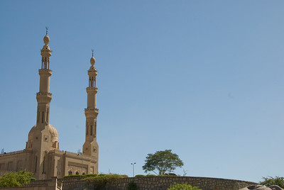 Minarets at a mosque against clear sky - Aswan, Egypt