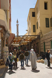 Glimpse of Market Awning at day - Aswan, Egypt