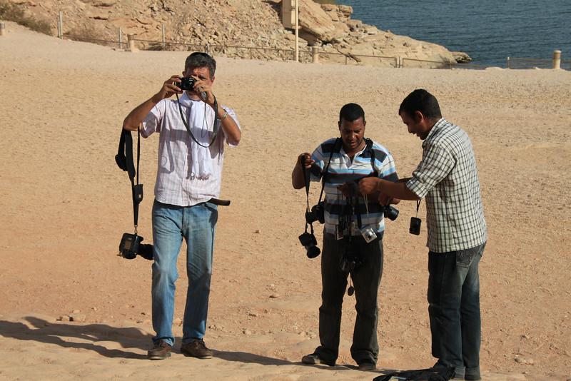 group photo at Abu Simbel temple of Ramesses II
