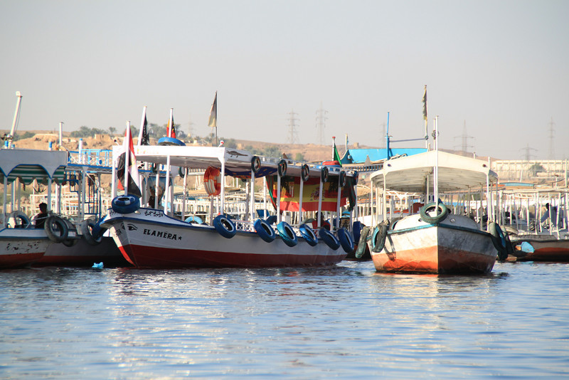boats near Temple of Isis, Philae
