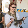 Jennine & croc at Nubian village