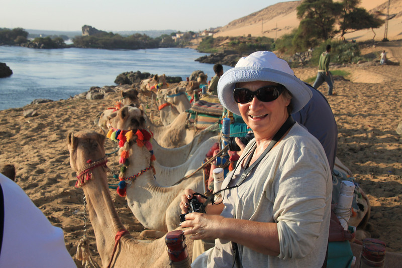 Enid, camel ride to Nubian village