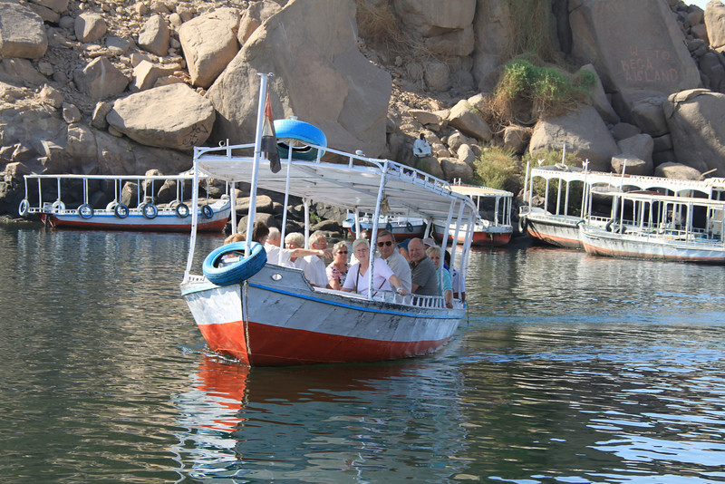 boat near Temple of Isis, Philae