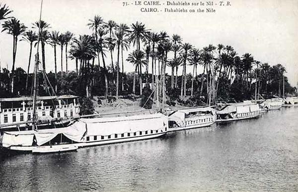 Dahabiehs on the Nile.
