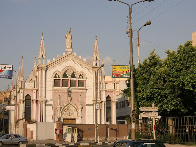 A church in Zamalek, Cairo.