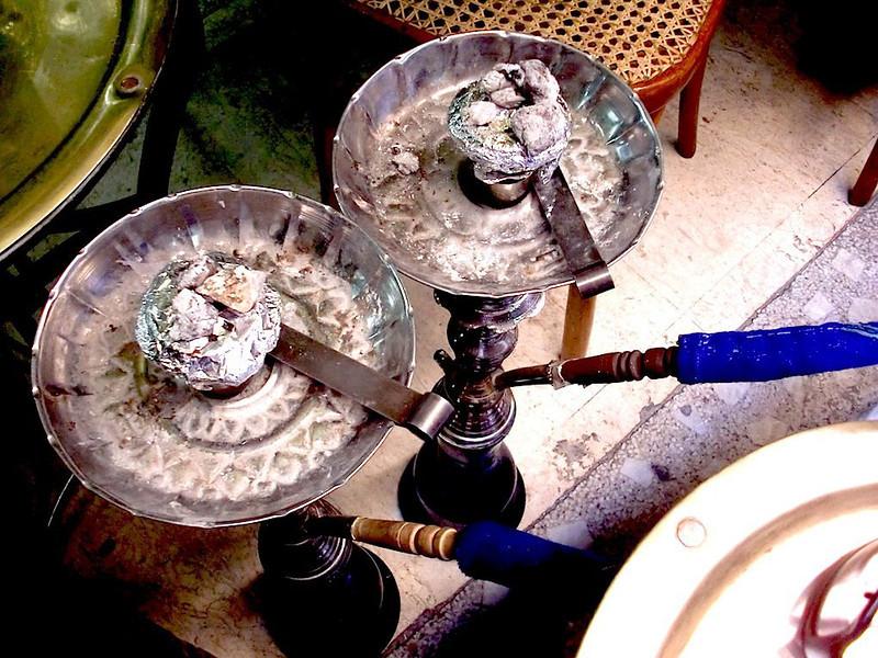 Shisha coals.