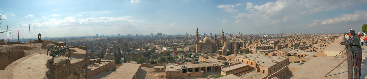 Panorama of city skyline in Cairo, Egypt