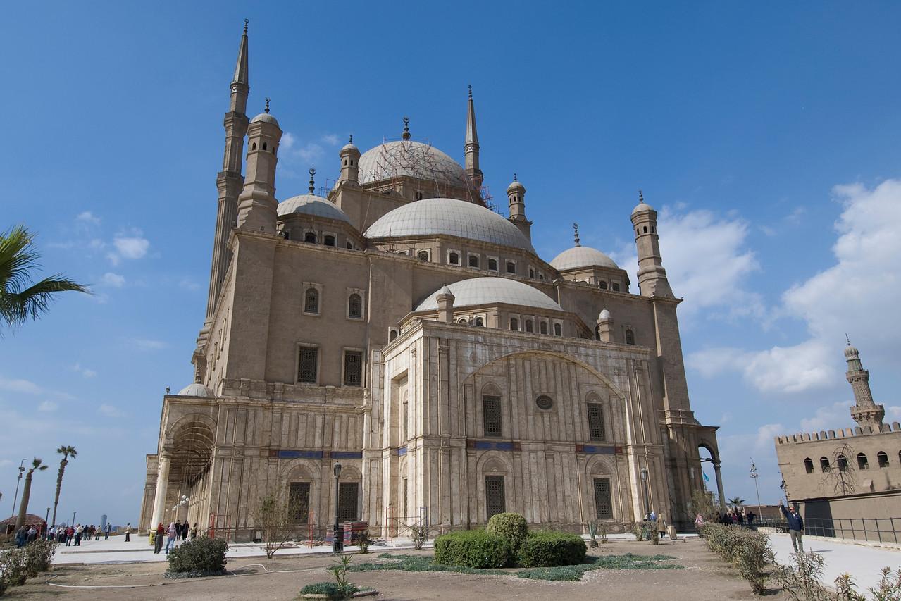 The Mohamed Ali Mosque facade - Cairo, Egypt