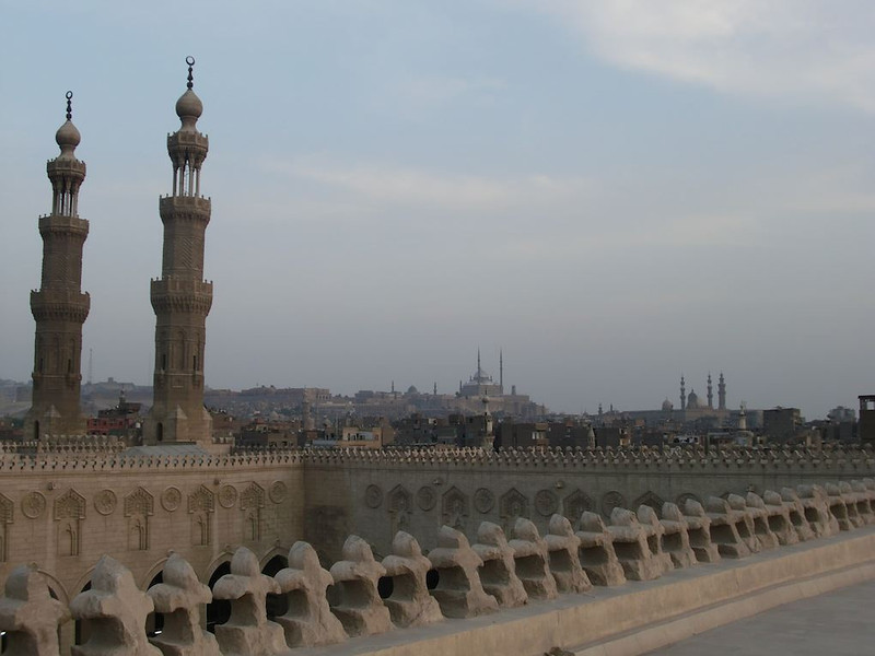 Muhammad Ali Mosque at a distance in Cairo.