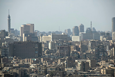 High rise building over the city skyline - Cairo, Egypt