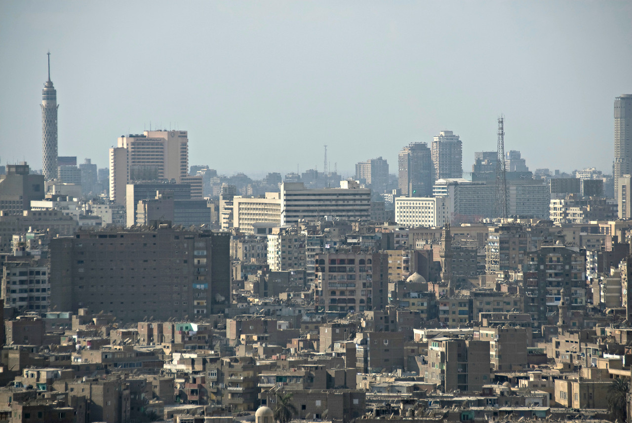 High rise building over the city skyline - Cairo, Egypt