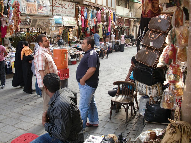 Shopkeepers in Khan al-Khalili.
