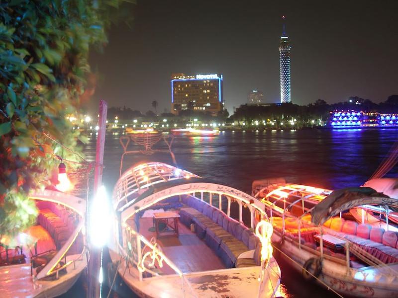 Feluccas in Cairo.