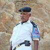 guard at Giza Pyramids