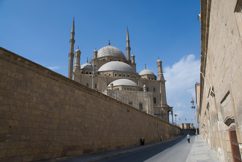 View of the Mohamed Ali Mosque from an alley - Cairo, Egypt