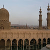 A mosque in Cairo at sunset.