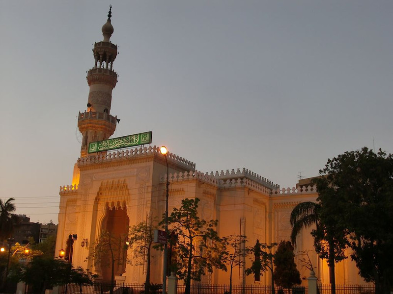 A mosque in Zamalek, Cairo.