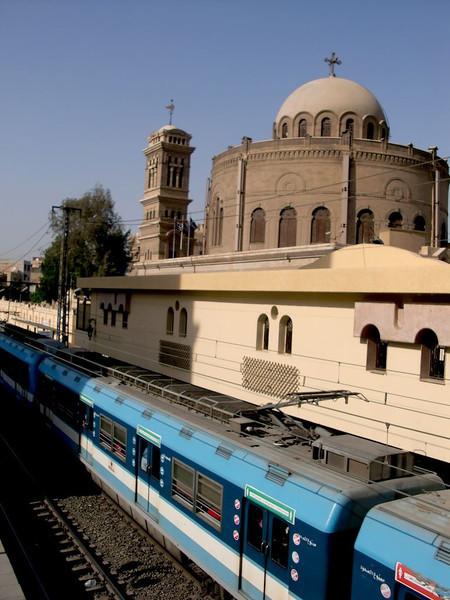 A metro car in Coptic Cairo.