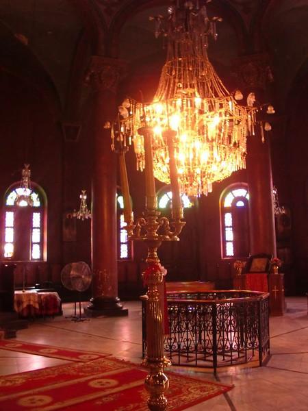 Inside of a church in Coptic Cairo.