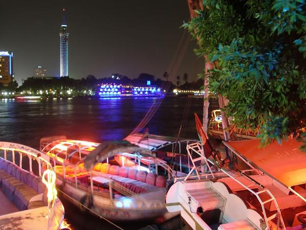 egypt nile at night
