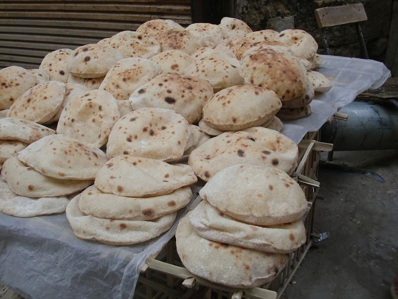 Bread for sale in Cairo.