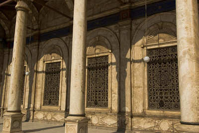 Details at windows of Mohamed Ali Mosque - Cairo, Egypt