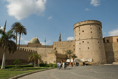 View outside the Citadel and Mohamed Ali Mosque - Cairo, Egypt
