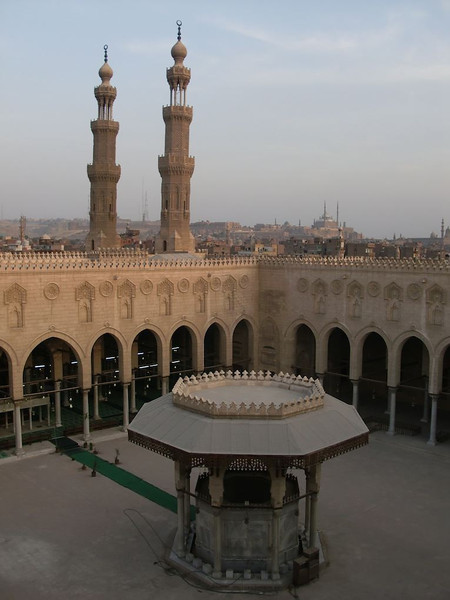 Inside of a mosque in Cairo.