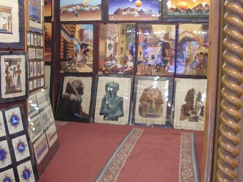 Papyrus on sale in Khan al-Khalili.