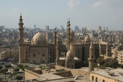 Islamic architecture at city skyline - Cairo, Egypt