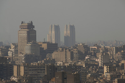 A shot of the skyline in Cairo, Egypt