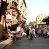 People shopping in Khan al-Khalili.