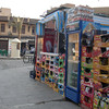 A small food stand in Cairo.