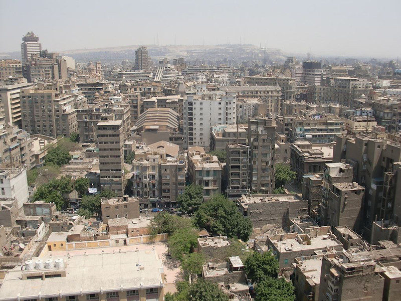 The Cairo skyline.