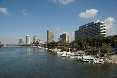 View of the Nile River Bank - Cairo, Egypt