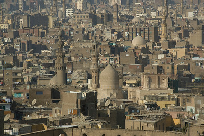 The city skyline  in Cairo, Egypt