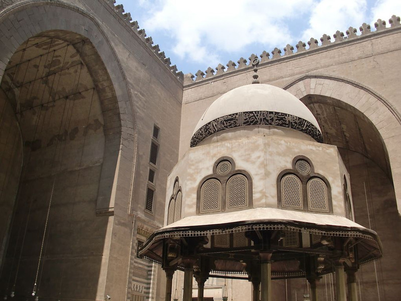 Inside the Muhammad Ali Mosque in Cairo.