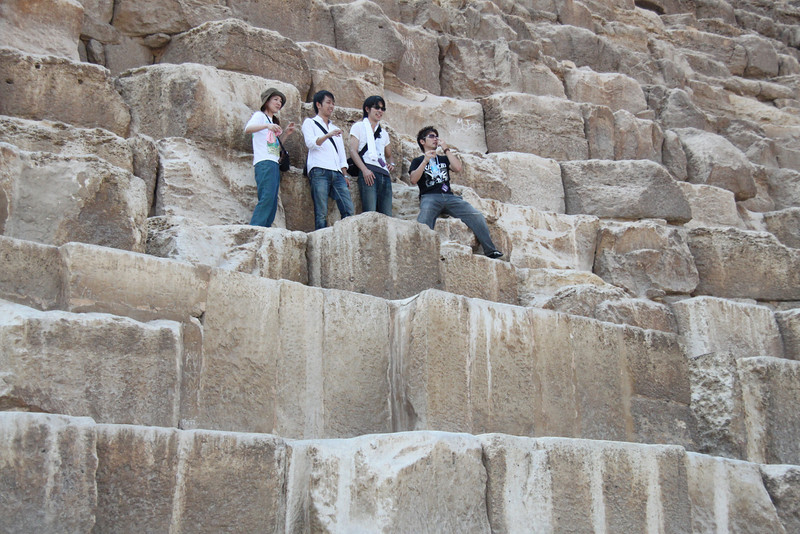 Tourists - Great Pyramid at Giza