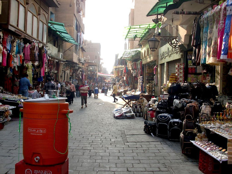 The main market street of Khan al-Khalili.