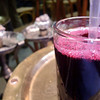 A glass of pomegranate juice in Khan al-Khalili.