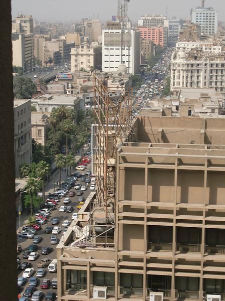 Traffic in Cairo.