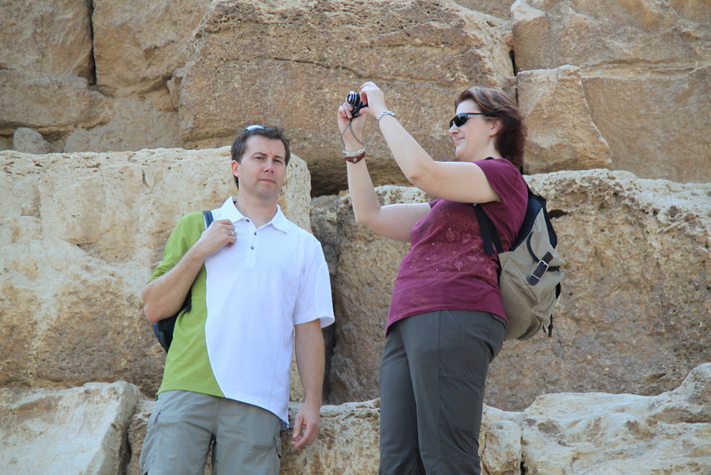 Neil and Jennine - Great Pyramid at Giza