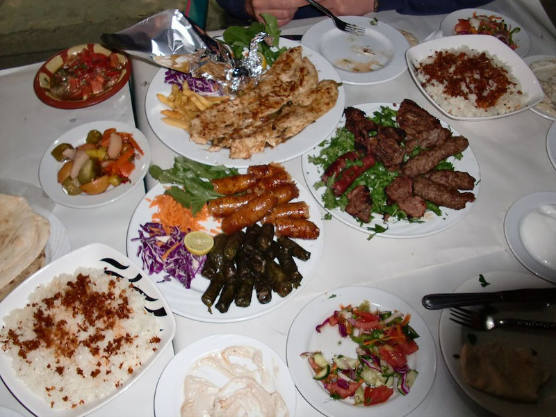 Kebabs in Cairo.