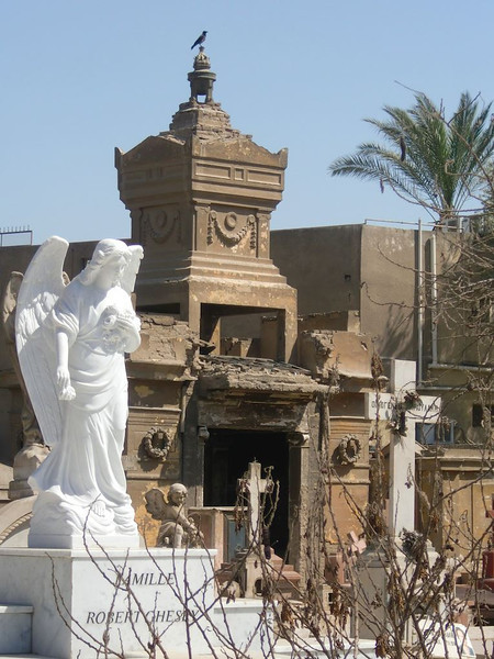 Inside the cemetery in Coptic Cairo.