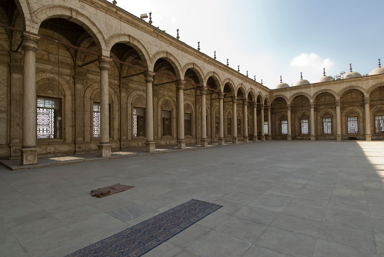 Inside the complex of Mohamed Ali Mosque - Cairo, Egypt