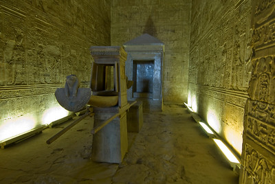 Inner Sanctum at Edfu Temple - Edfu, Temple