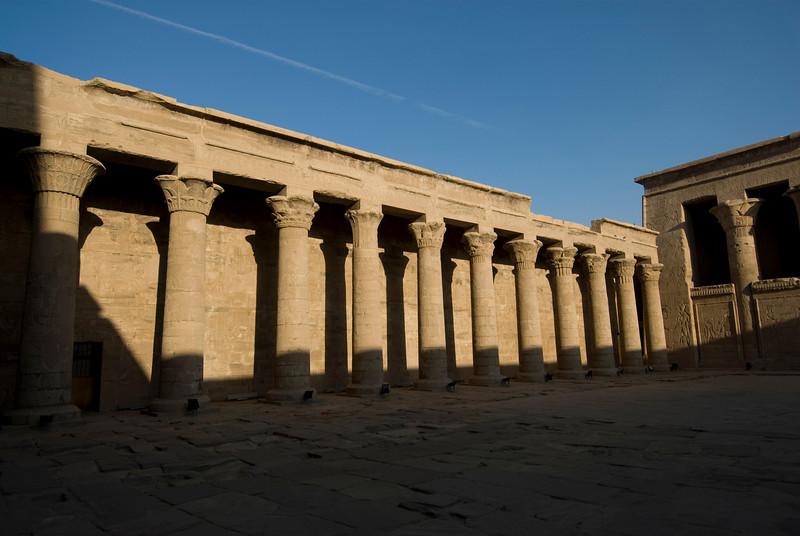 Pillars inside Edfu Temple - Edfu, Temple