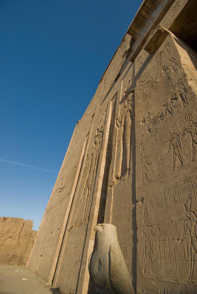 Falcon Statue outside Edfu Temple - Edfu, Temple